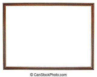 narrow carved retro wooden picture frame - narrow carved...