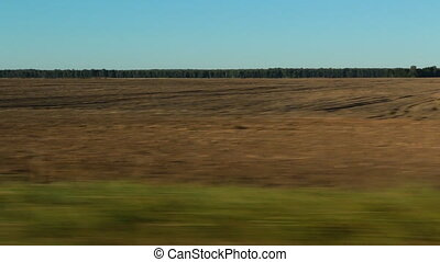 Agricultural field - Panorama of empty agricultural field...