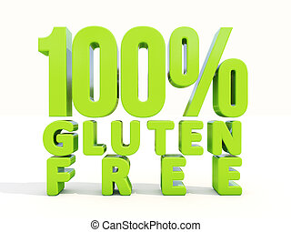 3d Gluten Free - Gluten Free icon on a white background. 3D...