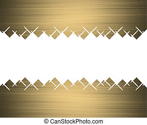 Gold frame with abstract edges. Design template. Design site