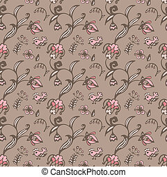 Spring vector  floral seamless background