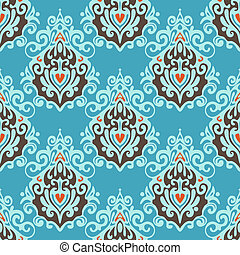 Vintage luxury   seamless damask pattern vector