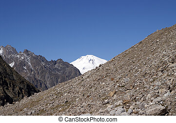 Caucasus Mountains Elbrus - Caucasus Mountains View of...