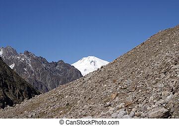 Caucasus Mountains. Elbrus - Caucasus Mountains. View of...