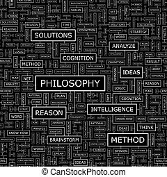 PHILOSOPHY Seamless pattern Word cloud illustration