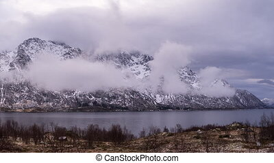 clouds on the coast of the Lofoten - clouds on the coastline...