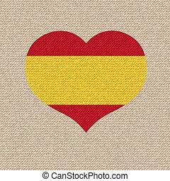 National flag of Spain. vector retro illustration.