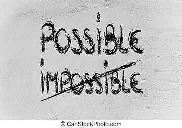 possible vs impossible, challenge concepts on blackboard -...