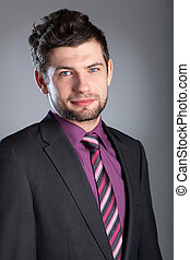 Young businessman wearing suit - Young and handsome...