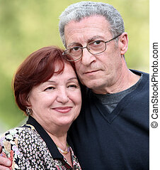 Happy mature couple - Portrait of a happy couple in their...