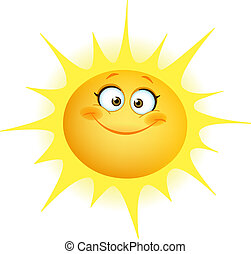 Cute sun - Cute smiling sun