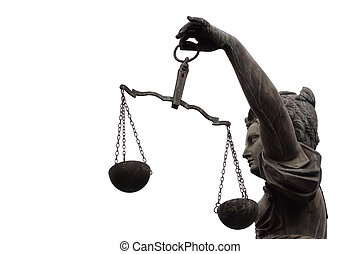 Lady Justice - Justitia (Lady Justice) sculpture on the...