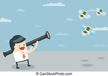 Businessman target with money - Businessman Target. Vector...