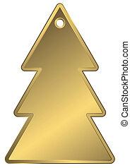 Golden metallic a charm