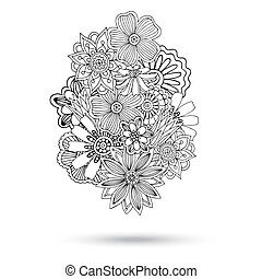 Henna Paisley Mehndi Abstract Vector Element. - Henna...