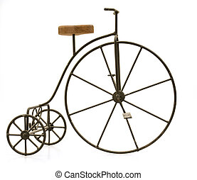 Isolated Tricycle Against White Background.