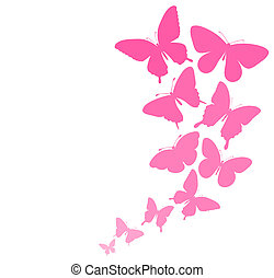background with a border of butterflies flying. Perfect for...