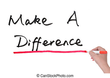 Make a difference words written on paper