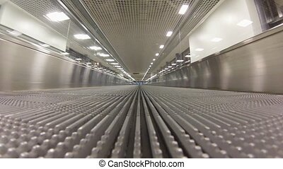 Empty Travelator in airport