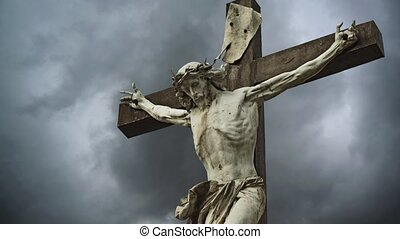 Crucifixion. Christian cross.
