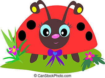 Ladybug Eyes - This cute Ladybug has huge eyes and little...