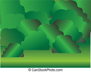 forest - Vector illustration in Eps8 format of the forest in...