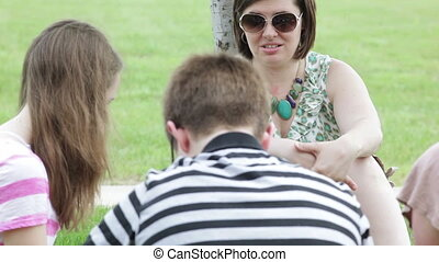 Teaching class outside outdoors - High school teacher,...