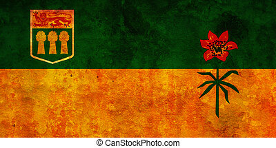 saskatchewan flag - some very old vintage flag of...