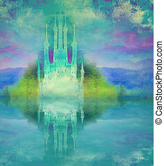 abstract fairytale castle