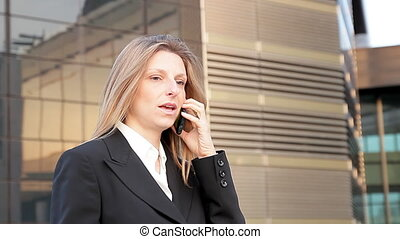 business woman happy with success - successful happy manager...