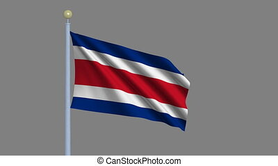 Flag of Costa Rica with alpha matte - Flag of Costa Rica...