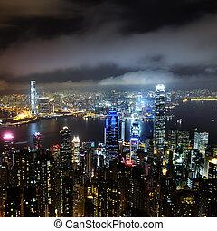 hongkong - Hong Kong central district skyline and Victoria...