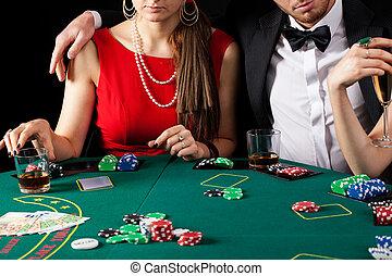 Casino gambling couple