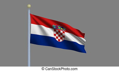 Flag of Croatia with alpha matte