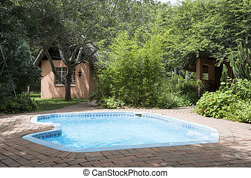 pool and small homes in nature - vacation home in nature...