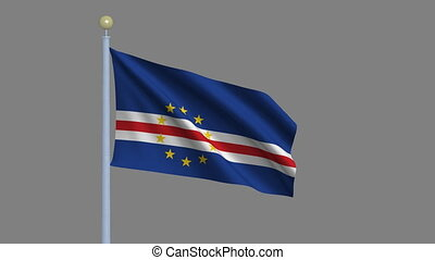Flag of Cape Verde with alpha matte - Flag of Cape Verde...