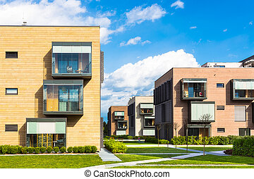 Modern residential architecture.