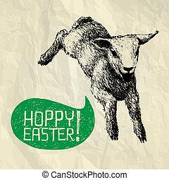 HOPPY (jump) EASTER! - Happy Easter card - Hoppy Easter! -...