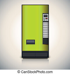 Vending machine for the sale of drinks Vector drawing for...