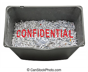 Shredded paper for confidentiality - Shredding personal...
