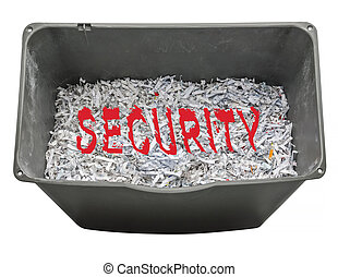Shredded paper for security - Shredding personal information...