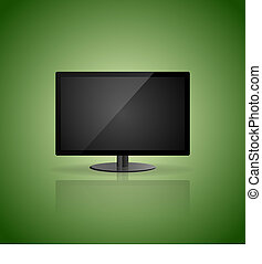 Green Background With Display