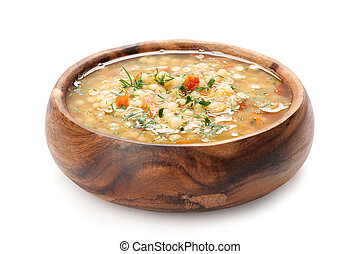 bowl of hot fresh Minestrone soup