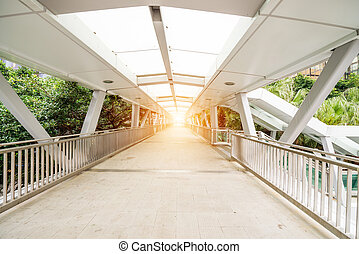 Footbridge in the modern city