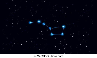 Big Dipper Constellation - Cartoon of the constellation of...