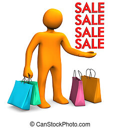Manikin Shopping Bags Sale