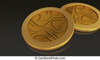 digital gold coins pan - The digital currency coin of...
