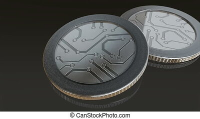 digital silver coins pan - The digital currency coin of...