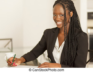 African Woman - Smiling African Businesswoman