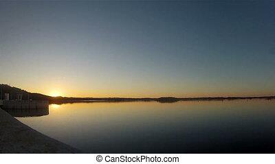 Alqueva - Sunset Timelapse - Timelapse in Alqueva Dam lake...
